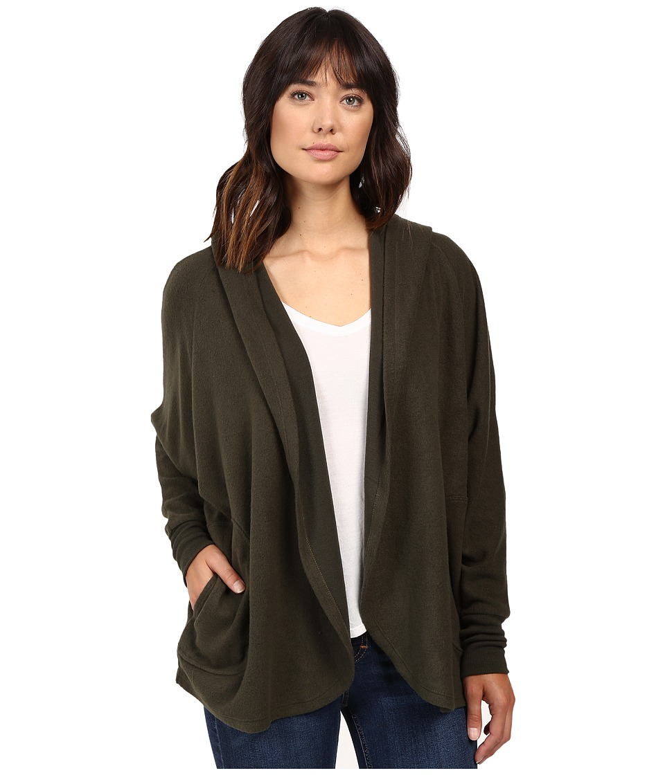 Culture Phit - Laurel Oversized Hoodie Cardigan (Olive) Women's Sweater