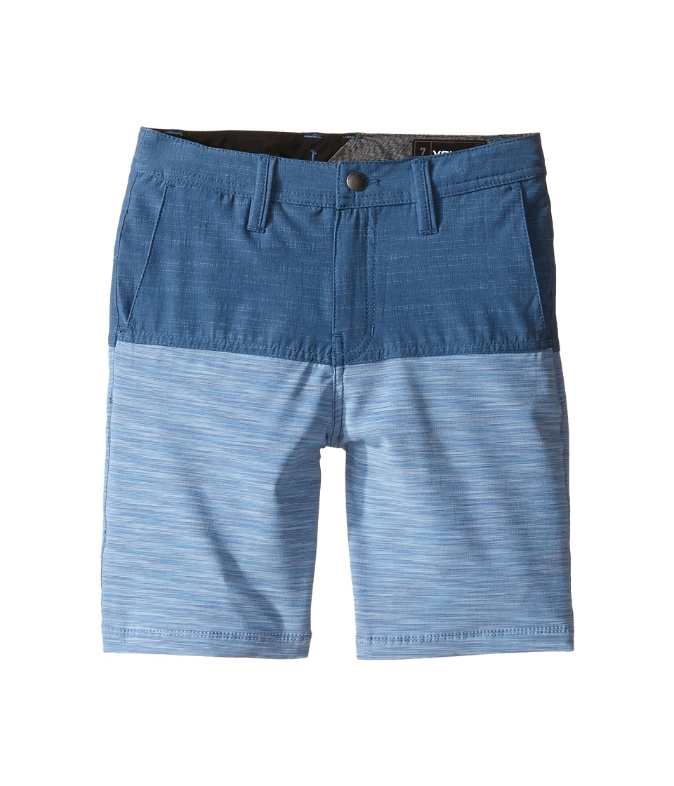 Volcom Kids - Frickin SNT Block Shorts (Toddler/Little Kids) (Smokey Blue) Boy's Shorts