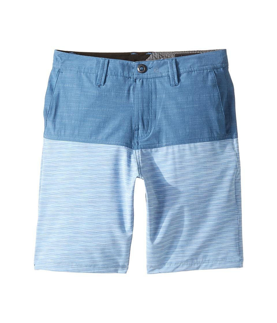Volcom Kids - Frickin SNT Block Shorts (Big Kids) (Smokey Blue) Boy's Shorts