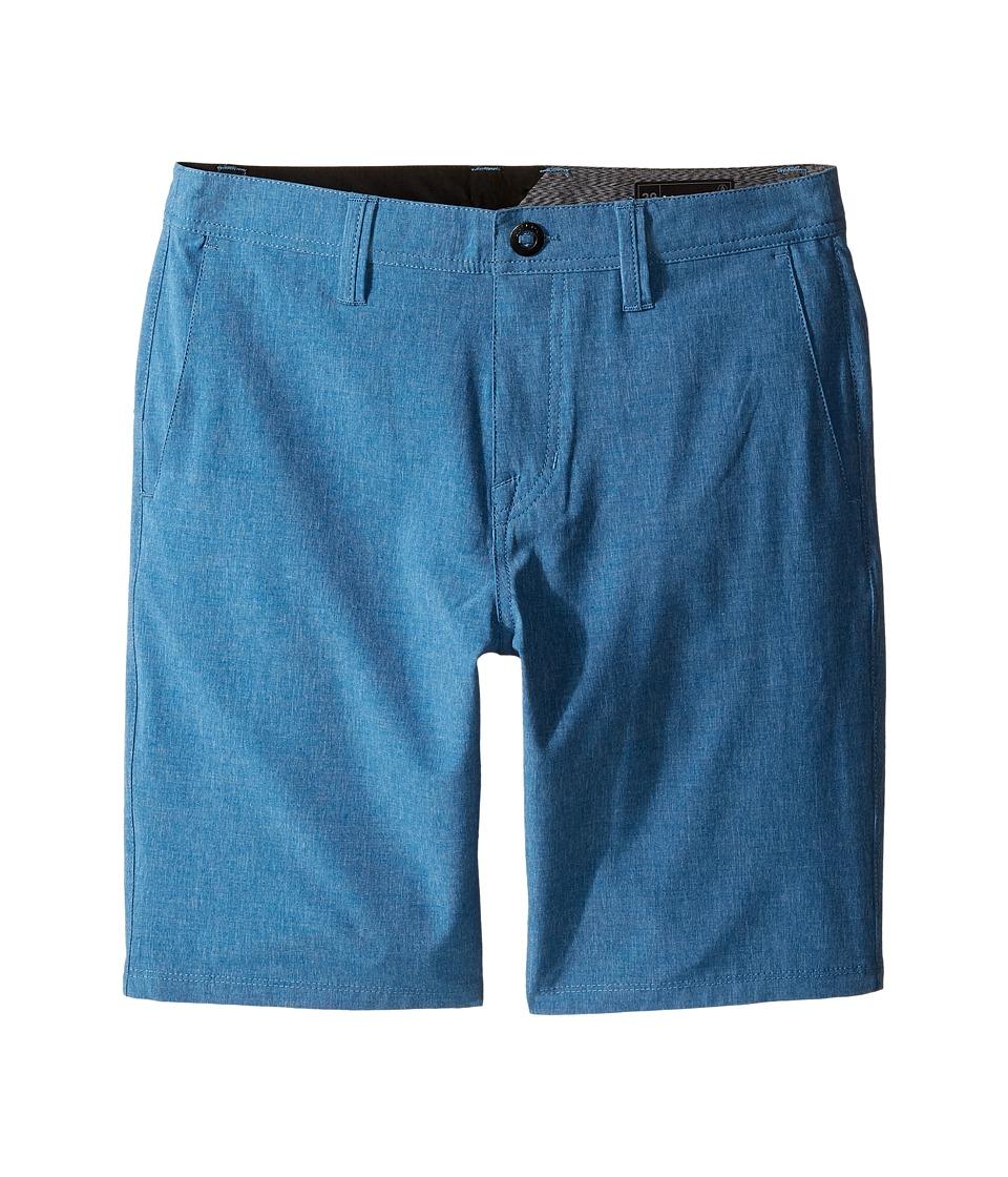 Volcom Kids - Frickin SNT Static Shorts (Big Kids) (Deep Water) Boy's Shorts