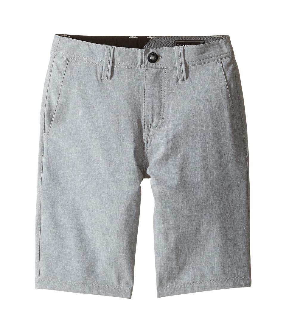 Volcom Kids - Frickin SNT Static Shorts (Big Kids) (Pewter) Boy's Shorts