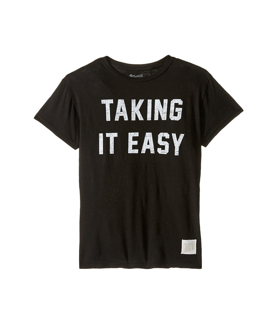 The Original Retro Brand Kids - Taking It Easy Short Sleeve Slub Tee (Big Kids) (Black) Boy's T Shirt