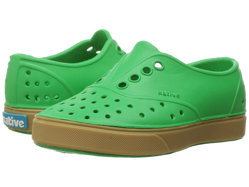 Native Kids Shoes - Miller with Gum Rubber (Toddler/Little Kid) (Giant Green/Gum Rubber) Kids Shoes