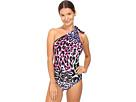 One Shoulder One-Piece Animalier Bikini