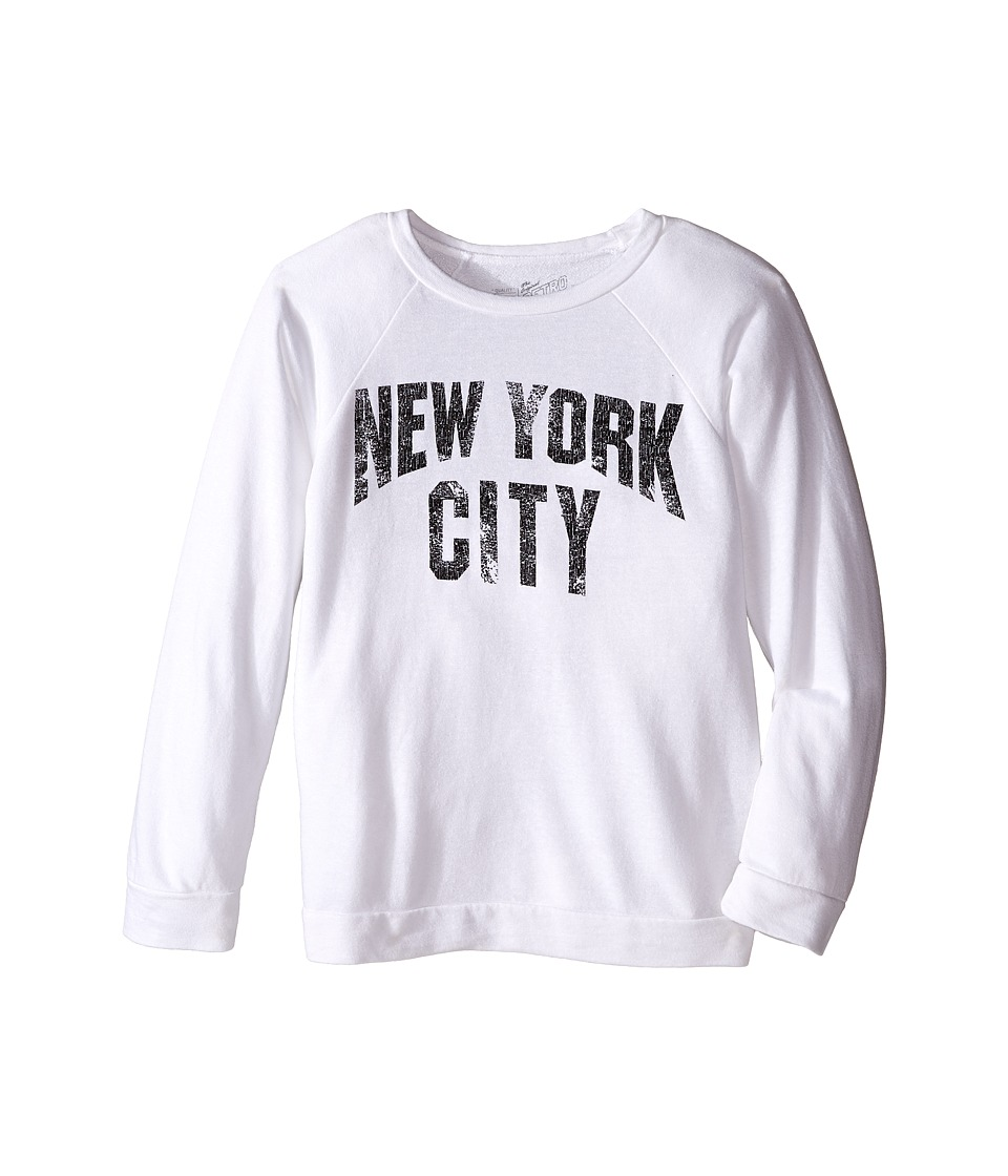The Original Retro Brand Kids - New York City Quad Blend Pullover (Big Kids) (Quad White) Girl's Clothing