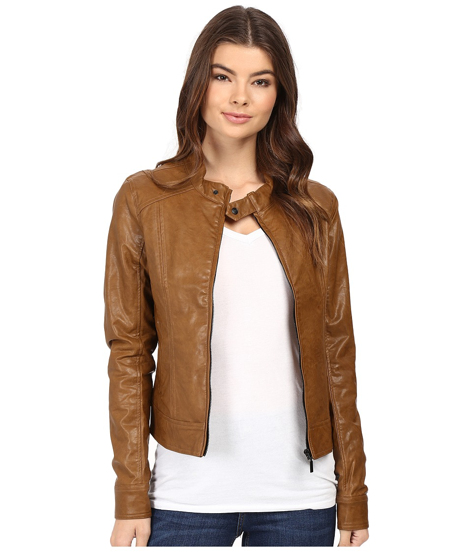 Cruel - Vegan Leather Jacket Snakeskin (Brown) Women's Coat