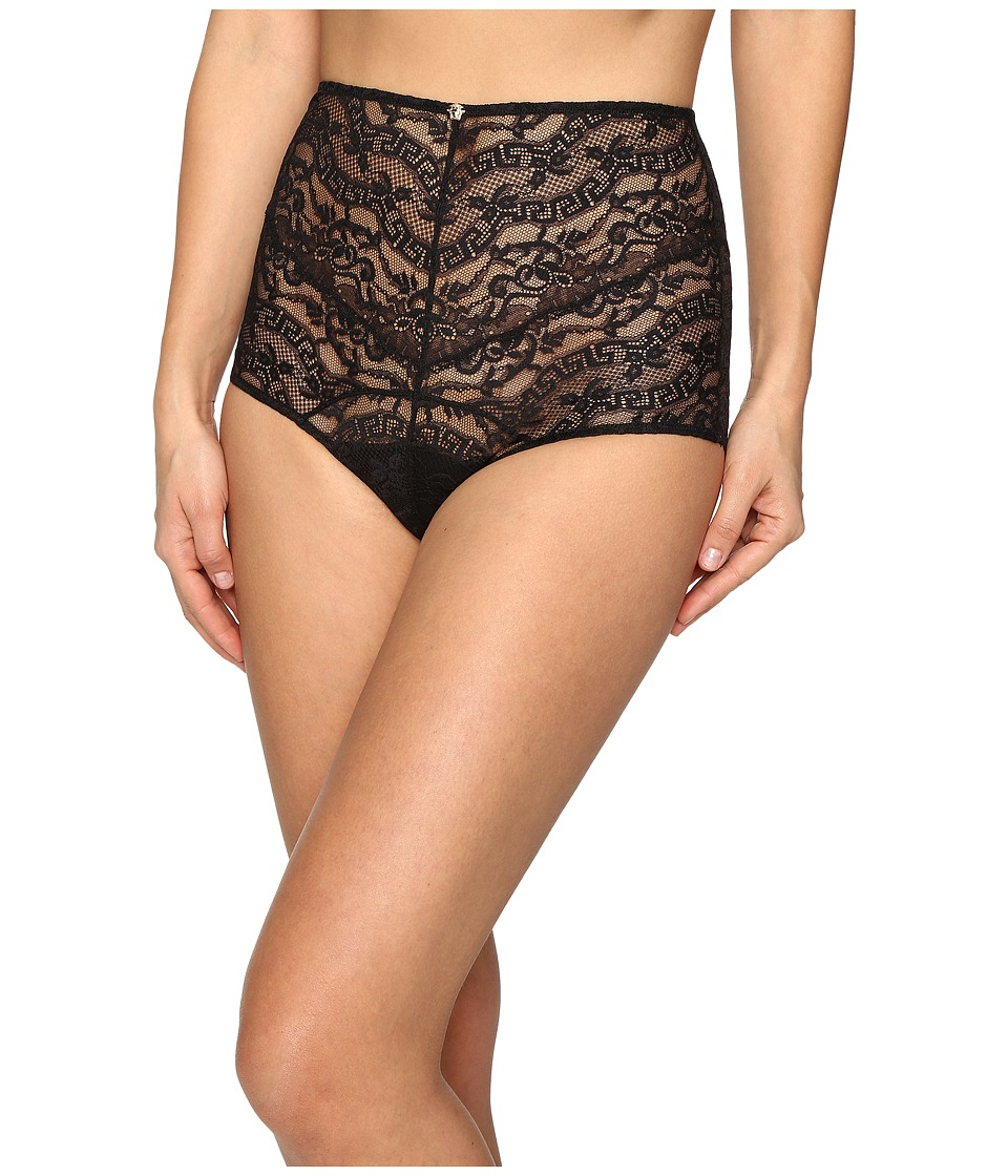 Versace - Lace High Waisted Panty (Black) Women's Underwear