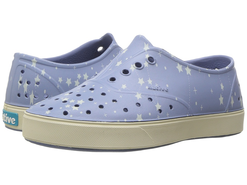 Native Kids Shoes - Miller Print (Little Kid) (Wolf Blue/Bone White/Star Glow) Kid's Shoes