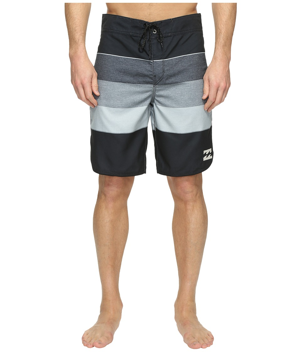 Billabong - 73 Originals Stripe Boardshorts (Black) Men's Swimwear