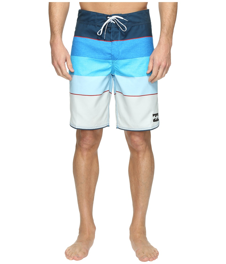 Billabong - 73 Originals Stripe Boardshorts (Blue) Men's Swimwear