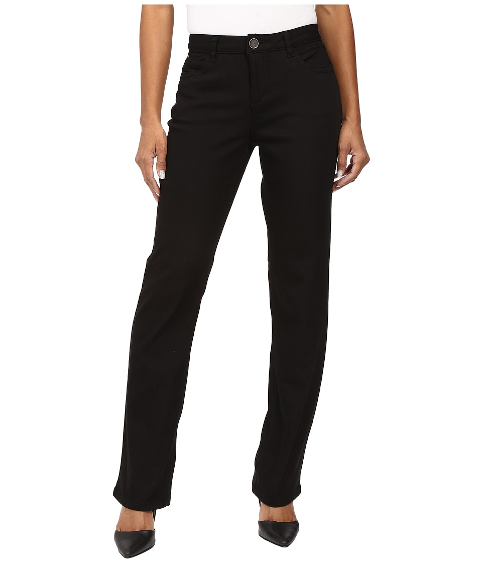 FDJ French Dressing Jeans - Petite Supreme Denim Olivia Straight Leg in Black (Black) Women's Jeans