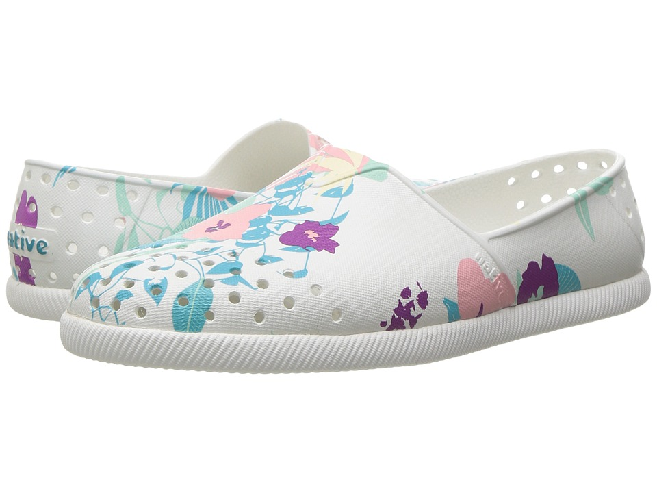 Native Kids Shoes - Verona Print (Little Kid) (Shell White/Bone White/Bouquet) Girl's Shoes