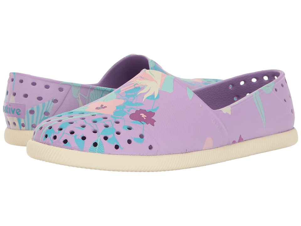 Native Kids Shoes - Verona Print (Little Kid) (Lavender Purple/Bone White/Bouquet) Girl's Shoes