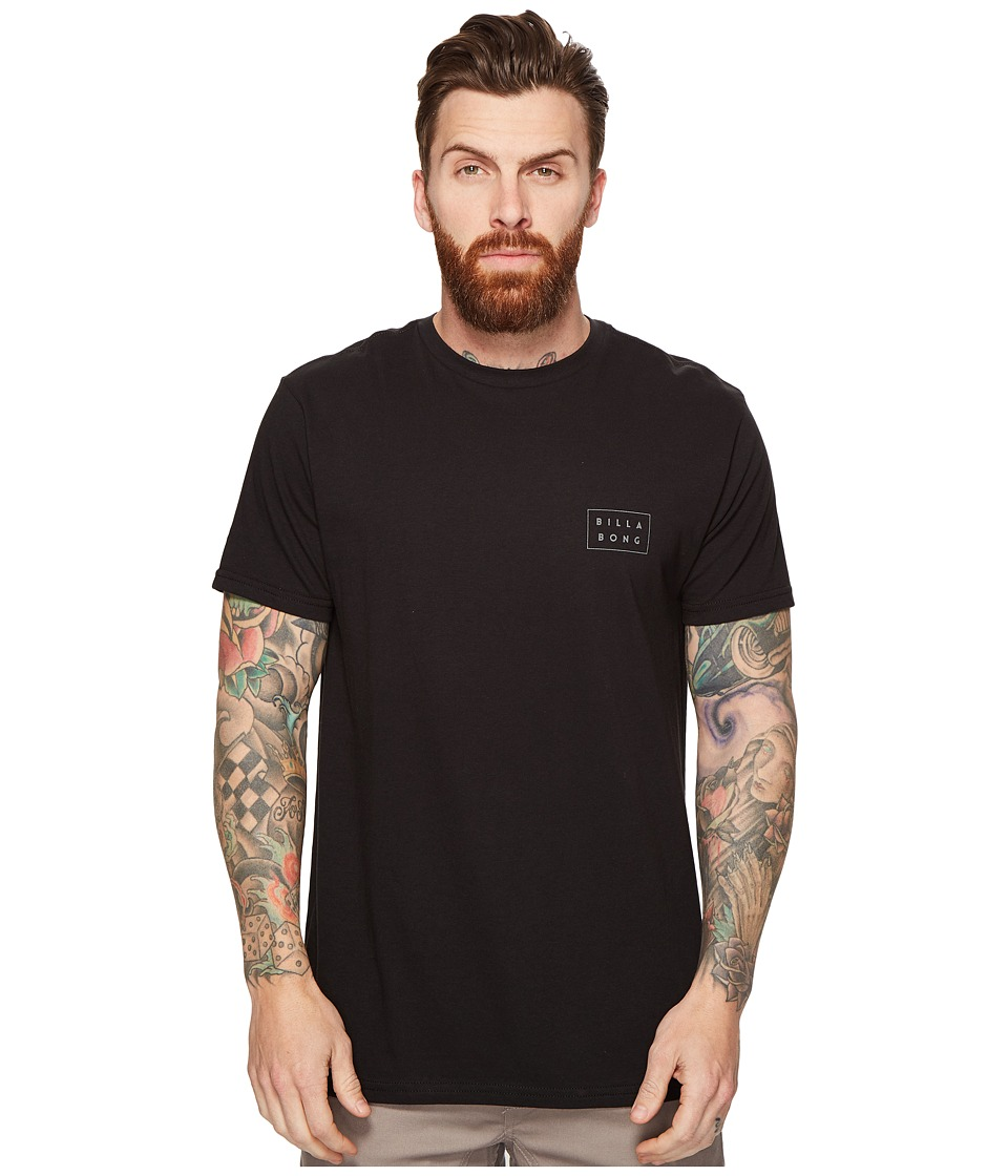 Billabong - Die Cut Printed T-Shirt (Black) Men's T Shirt
