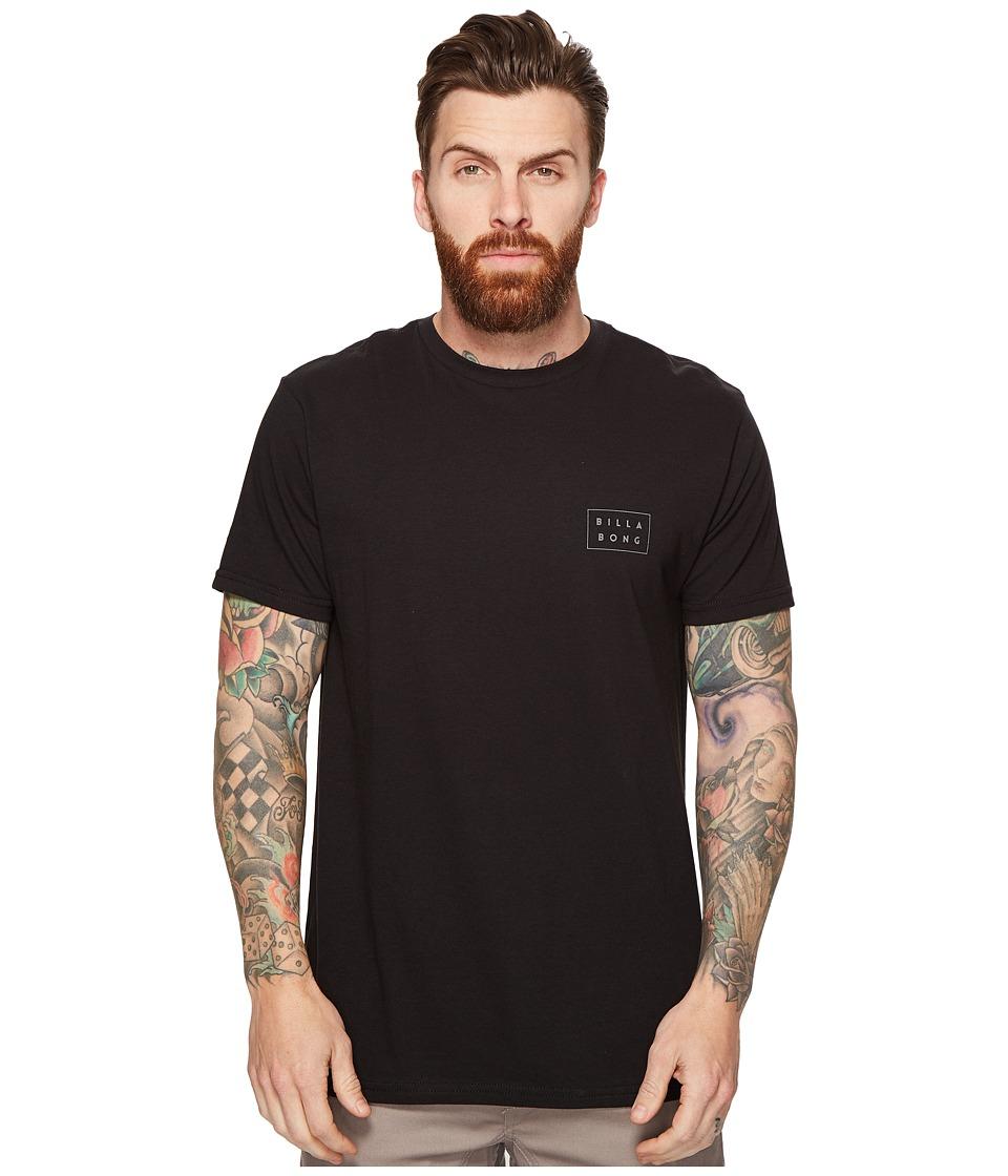 Billabong - Die Cut Printed T-Shirt (Black) Men's T Shirt