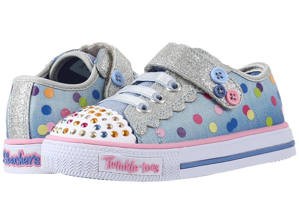 SKECHERS KIDS - Twinkle Toes - Shuffles 10684N Lights (Toddler/Little Kid) (Light Blue) Girl's Shoes