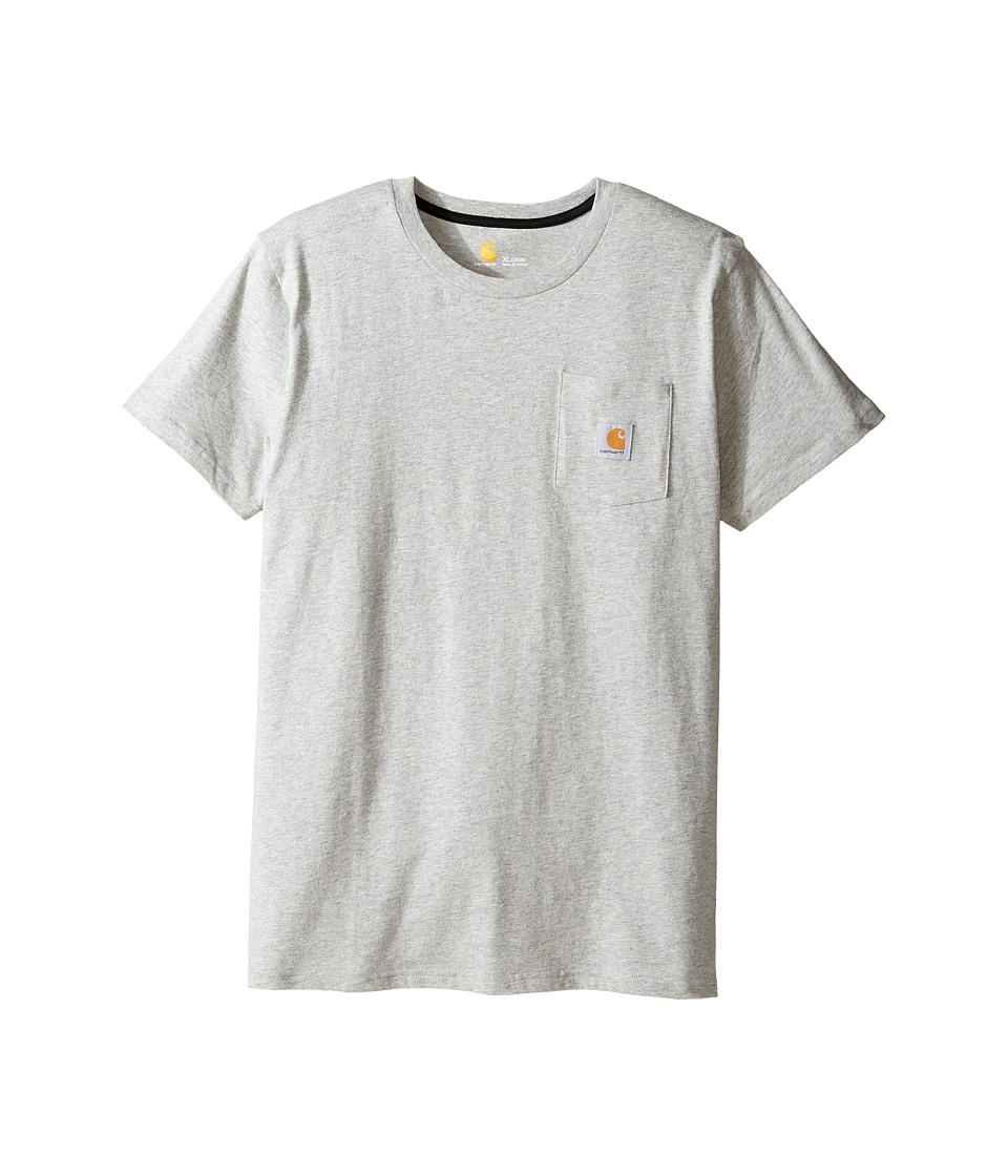 Carhartt Kids - C Dog Pocket Tee (Big Kids) (Grey Heather) Boy's T Shirt