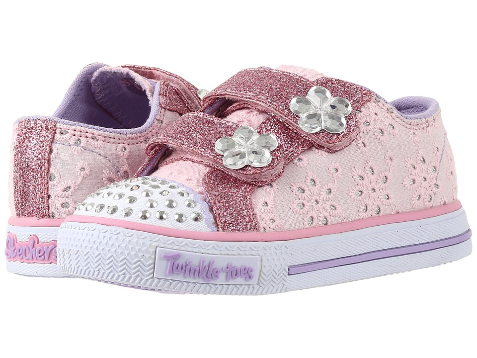 SKECHERS KIDS - Twinkle Toes - Shuffles 10724N Lights (Toddler/Little Kid) (Pink/Hot Pink) Girl's Shoes