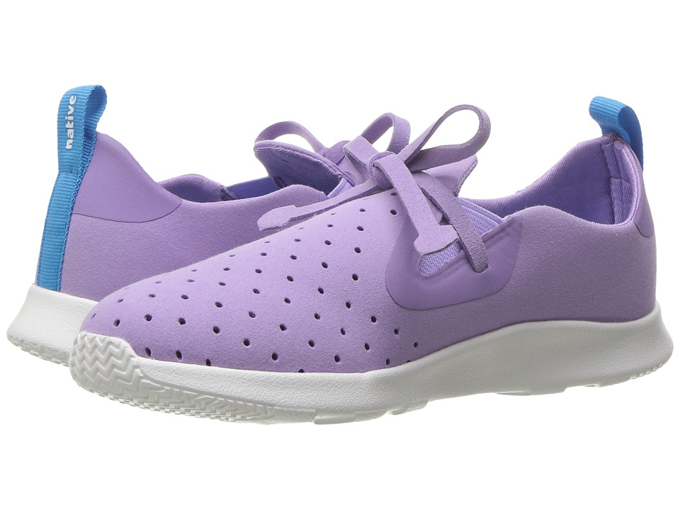 Native Kids Shoes - Apollo Moc (Little Kid) (Lavender Purple/Shell White) Girls Shoes