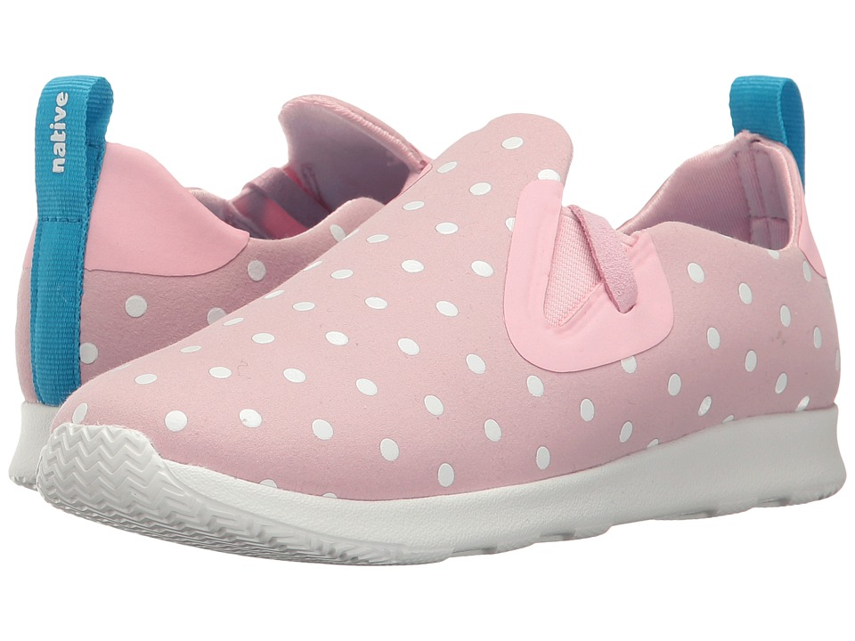Native Kids Shoes - Apollo Moc Polka Dots (Little Kid) (Princess Pink/Shell White/Shell Dots) Girls Shoes