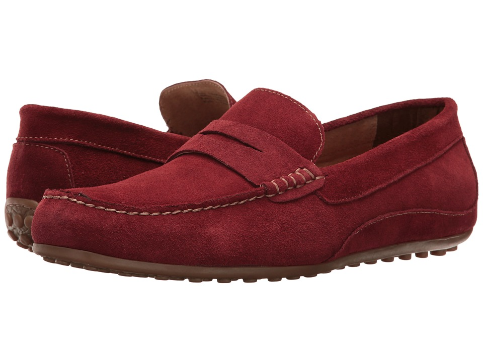 Florsheim - Oval Penny Driver (Red Suede) Men's Slip on Shoes