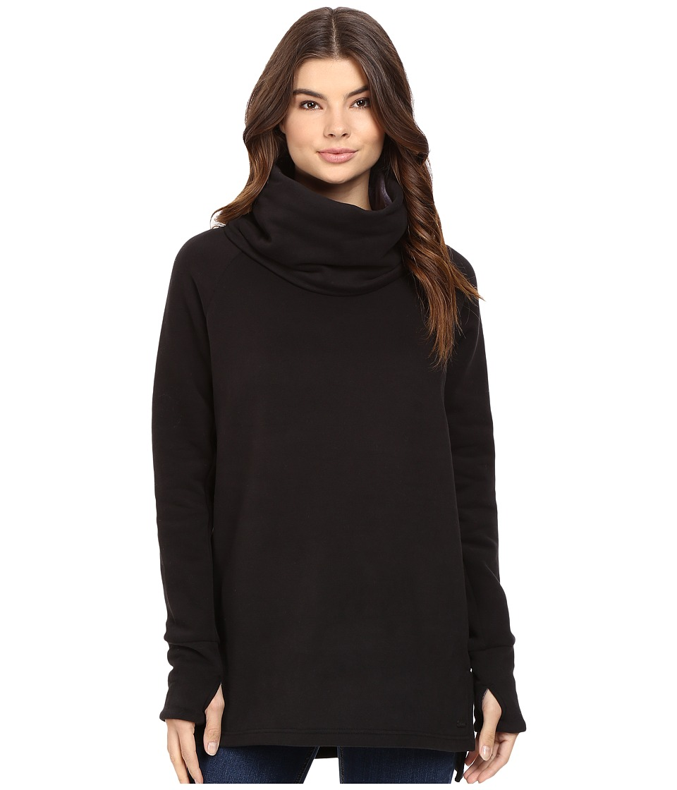 Bench - Bend High Neck Sweatshirt (Jet Black) Women's Sweatshirt
