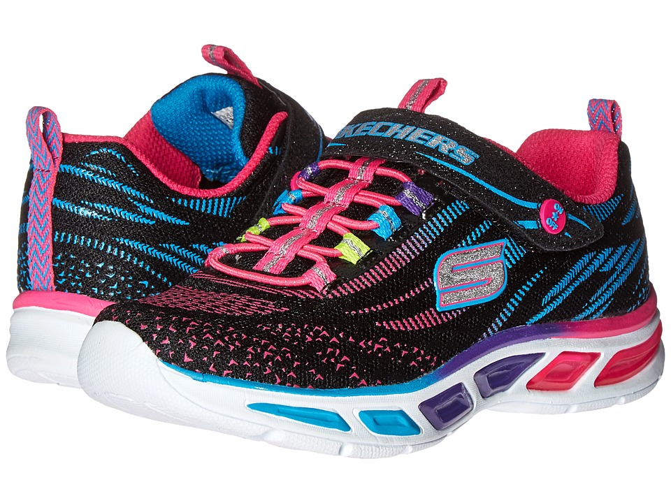 SKECHERS KIDS - Lite Beams 10667L Lights (Little Kid/Big Kid) (Black/Multi) Girl's Shoes