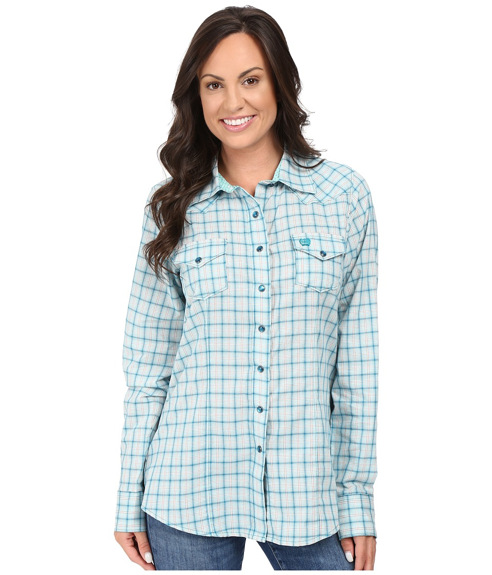Cinch - Cotton Plain Weave Fit (Teal) Women's Clothing