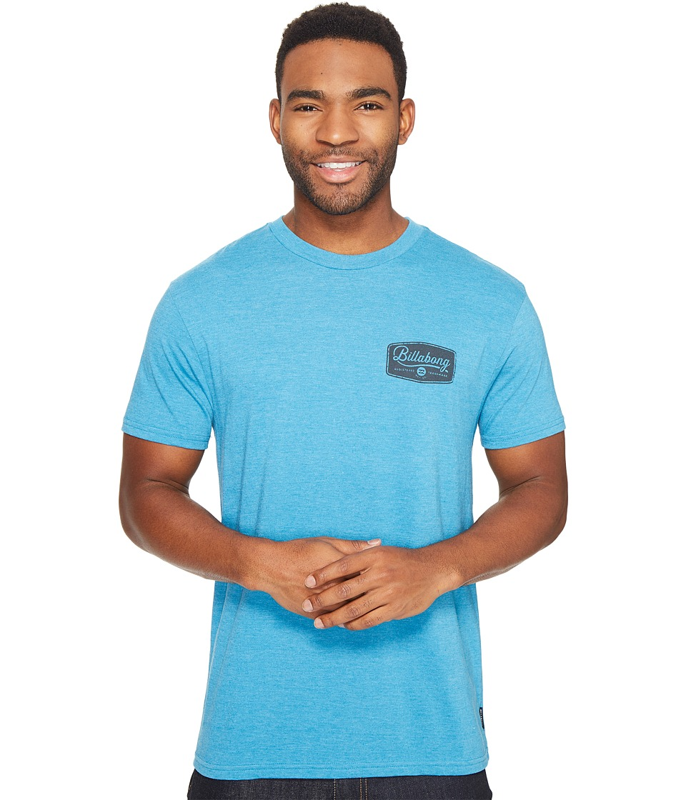 Billabong - Pitstop Printed T-Shirt (Ocean Heather) Men's T Shirt