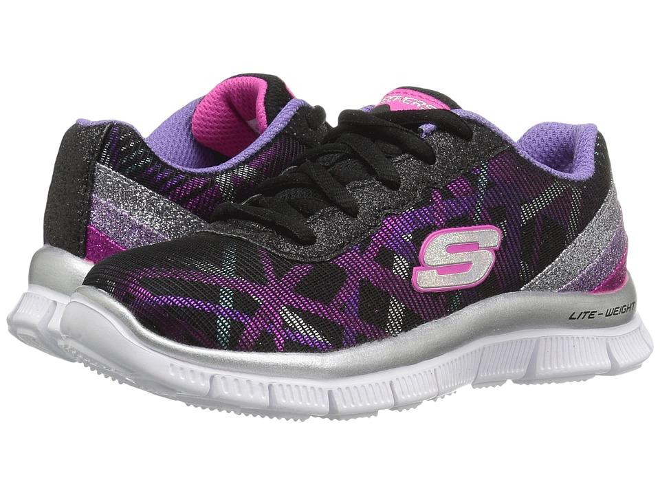 SKECHERS KIDS - Skech Appeal 81826L (Little Kid/Big Kid) (Black/Lavendar/Hot Pink) Girl's Shoes