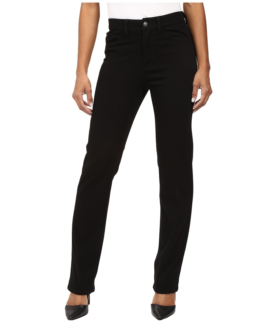 FDJ French Dressing Jeans - Petite Suzanne Straight Leg Love Denim in Black (Black) Women's Jeans