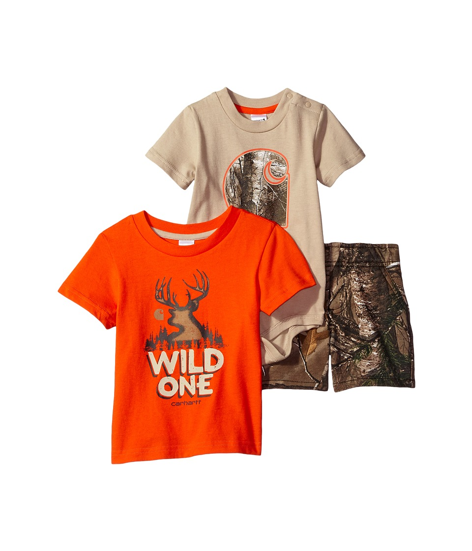 Carhartt Kids - Camo Three-Piece Gift Set (Infant) (Realtree Xtra Camo) Boy's Active Sets