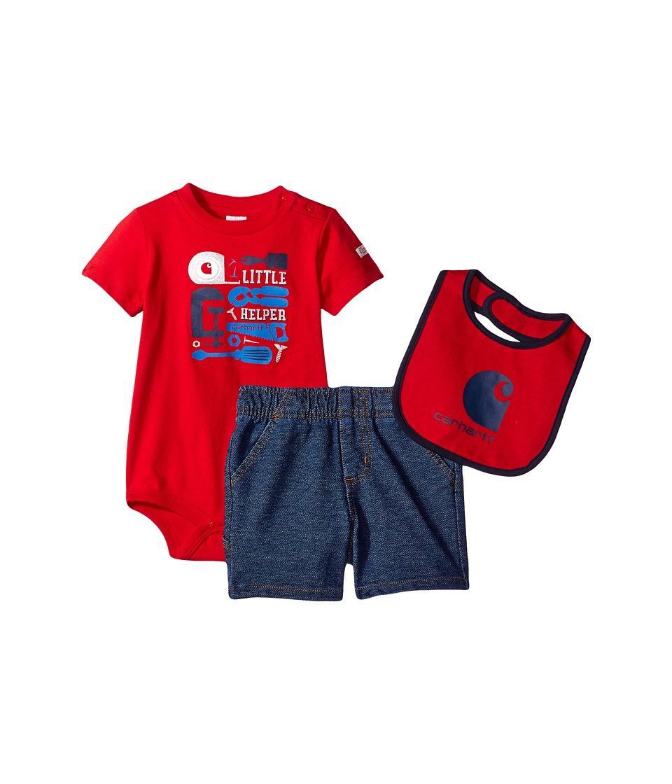 Carhartt Kids - Three-Piece Little Helper Gift Set (Infant) (Worn in Blue Wash) Boy's Active Sets
