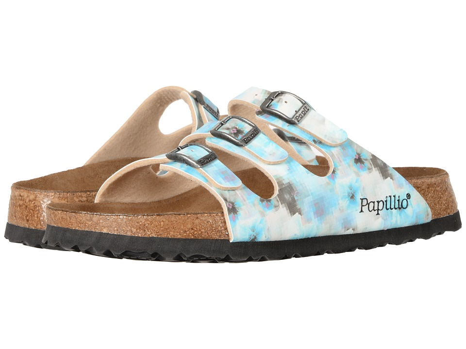 Birkenstock - Florida Pixel Soft Footbed (Pixel Blue Birko-Flor) Women's Shoes