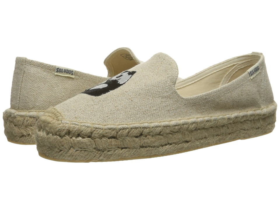 Soludos Embroidered Smoking Slipper (Sand Canvas) Women