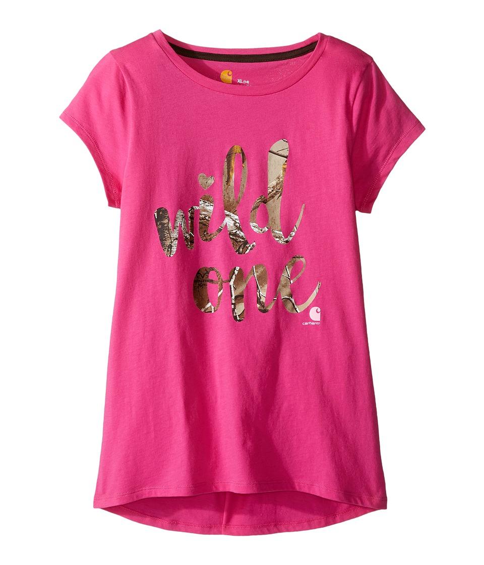 Carhartt Kids - Wild One Tee (Big Kids) (Raspberry Rose) Girl's T Shirt