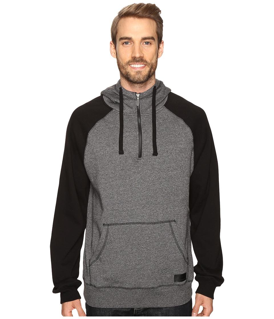 Cinch - Color Blocked Fleece Hoodie (Heathered Charcoal) Men's Sweatshirt