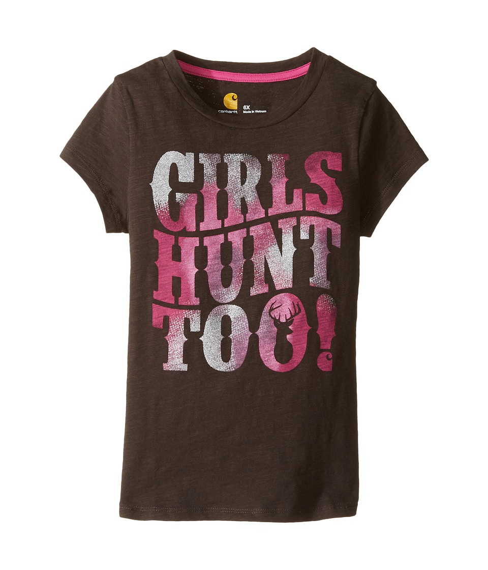 Carhartt Kids - Hunt Too Tee (Little Kids) (Mustang Brown) Girl's T Shirt
