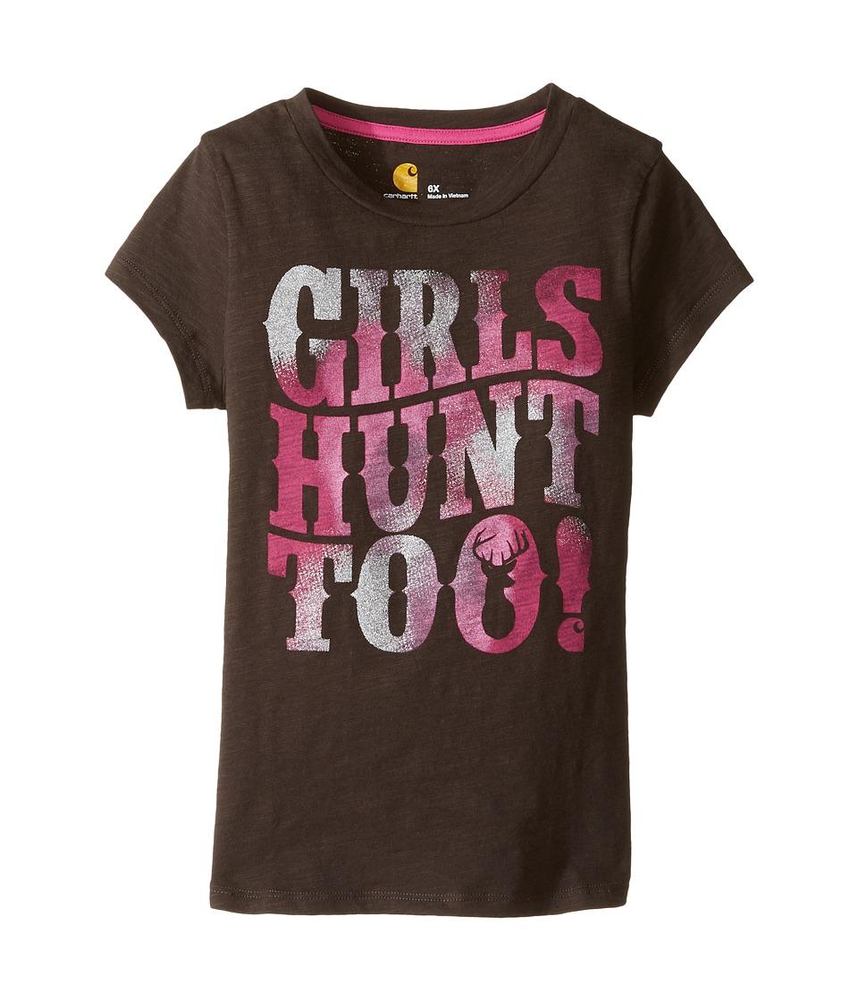 Carhartt Kids - Hunt Too Tee (Little Kids) (Mustang Brown) Girl's T Shirt