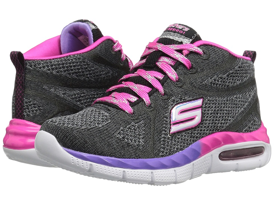 SKECHERS KIDS - Air Appeal 81711L (Little Kid/Big Kid) (Black/Lavendar/ Pink) Girl's Shoes