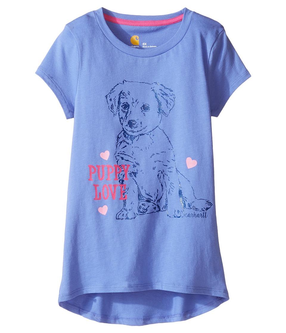 Carhartt Kids - Puppy Love Tee (Little Kids) (Baja Blue) Girl's T Shirt