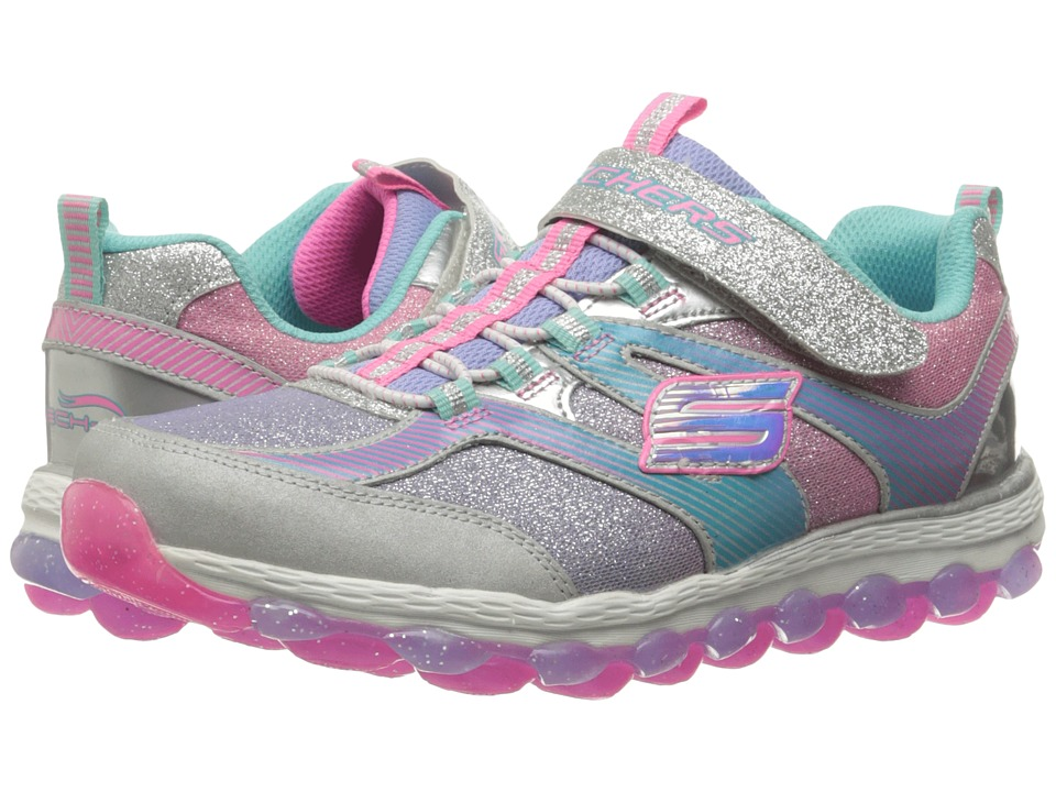 SKECHERS KIDS - Skech Air Ultra 80036L (Little Kid/Big Kid) (Silver/Multi) Girl's Shoes
