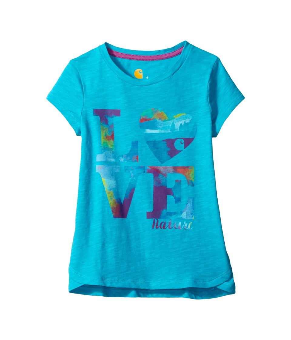 Carhartt Kids - Love Nature Slub Tee (Little Kids) (Bluebird) Girl's T Shirt