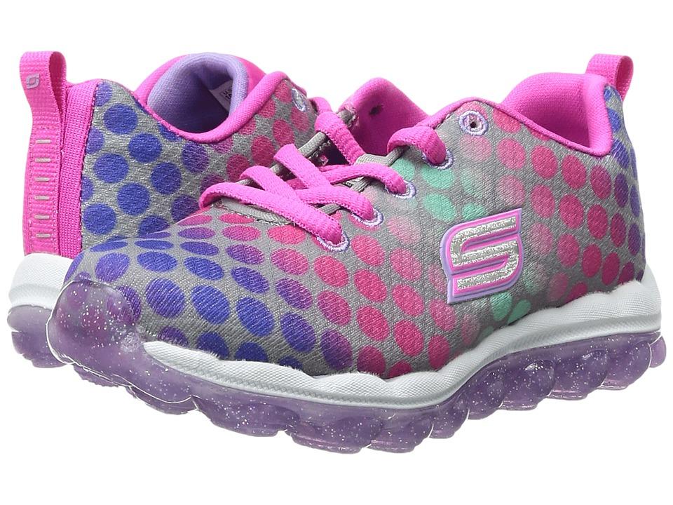 SKECHERS KIDS - Skech Air 80125L (Little Kid/Big Kid) (Grey/Multi) Girl's Shoes