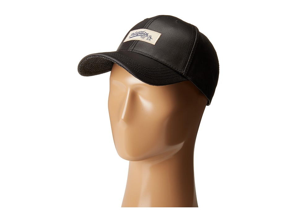 Original Penguin - Waxed Fabric Baseball Cap (Black) Baseball Caps