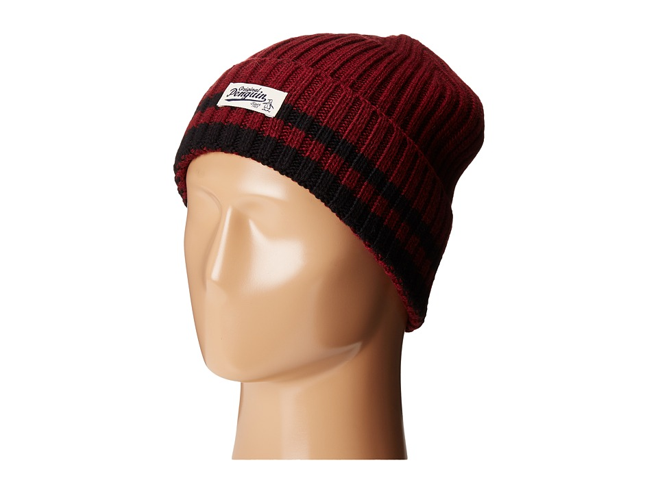 Original Penguin - Chunky Knit Watch Cap (Beet Red) Caps