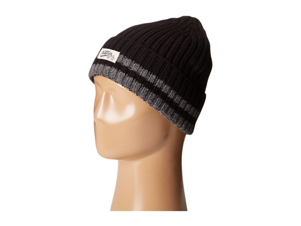 Original Penguin - Chunky Knit Watch Cap (Black) Caps