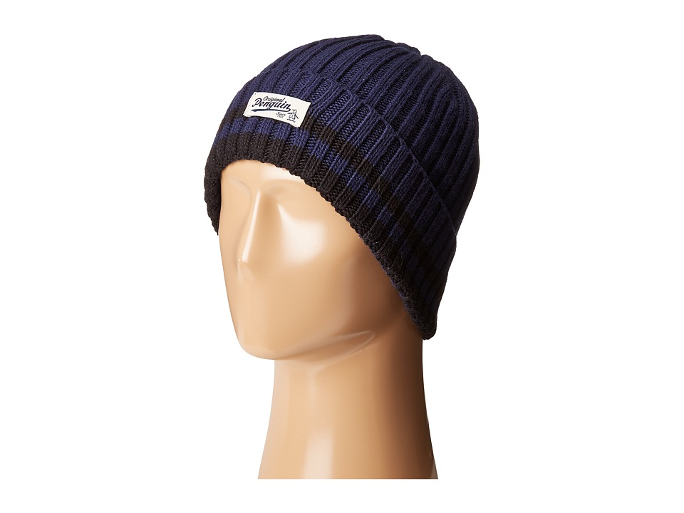 Original Penguin - Chunky Knit Watch Cap (Dark Sapphire) Caps
