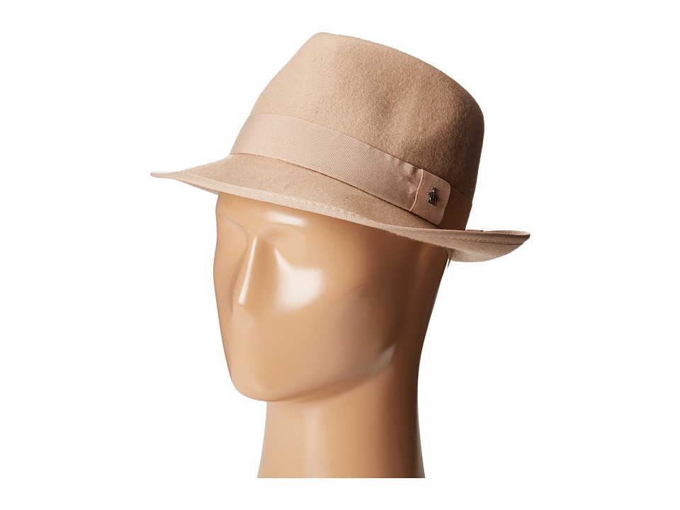 Original Penguin - Felted Wool Fedora (Camel) Fedora Hats