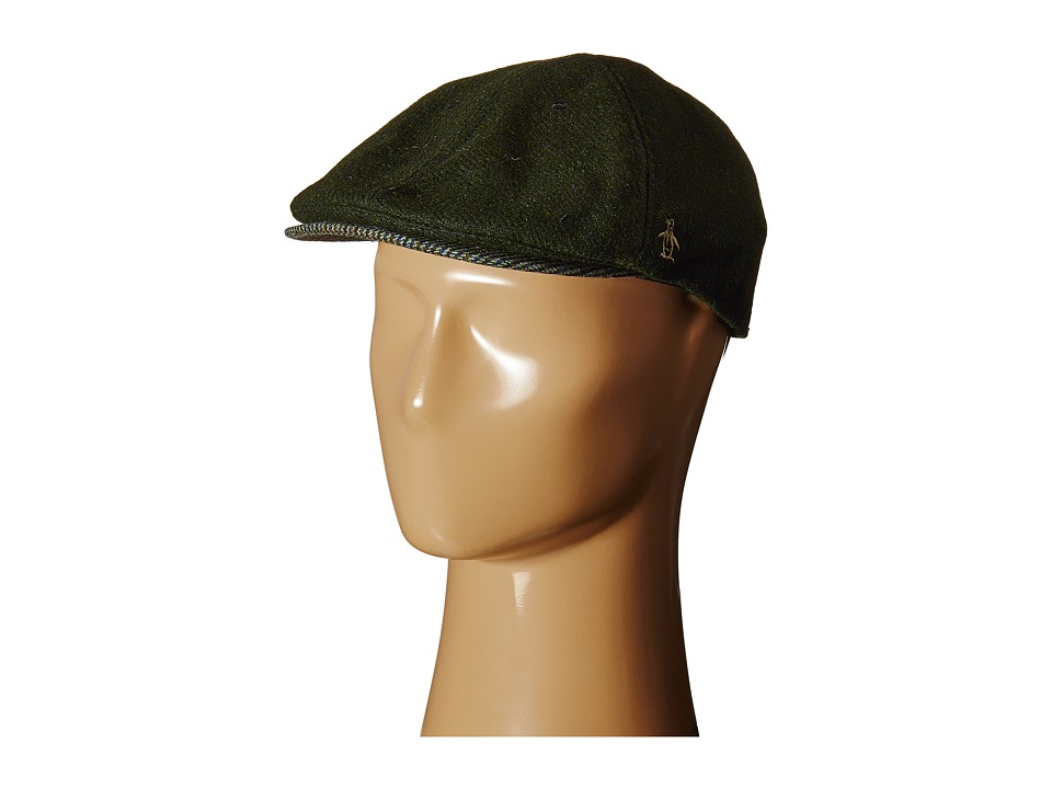 Original Penguin - Woolen Driving Cap (Dusty Olive) Driving Hats